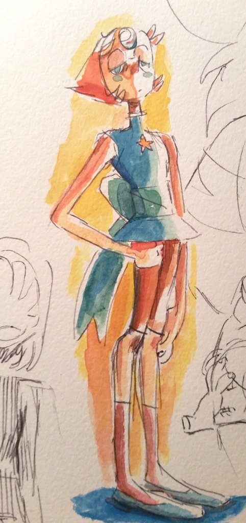 """Tried coloring pearl...emphasis on tried"""