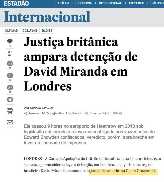 O @Estadao sempre me chamou 'jornalista' - até eu critiquei o @Estadao e impeachment. Agora sou 'ativista'