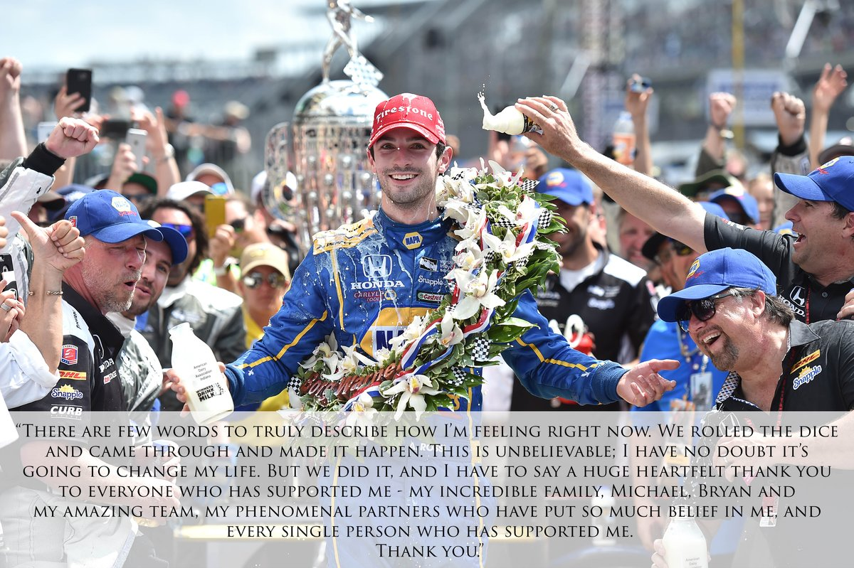 Thank you. #Indy500 https://t.co/XNwzxta4xd