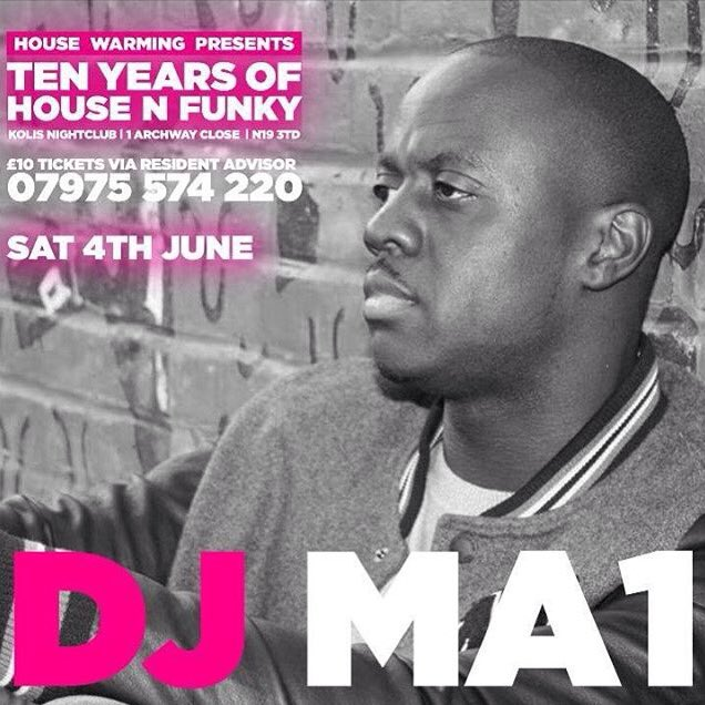 This Saturday - 10 Years of House N Funky - Tickets on sale now via @residentadvisor