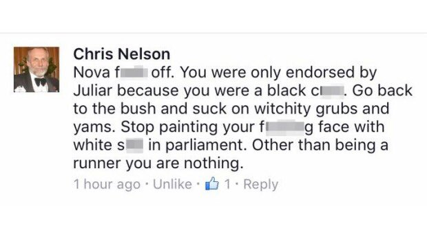 .@LiberalAus confirm Chris Nelson has been expelled from party following alleged racial comments aimed at Nova Peris https://t.co/2XCN7trFsQ