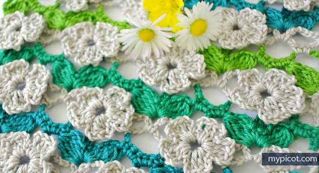 Mypicot On Twitter Crochet Flower Stitch Diagram Step By Step