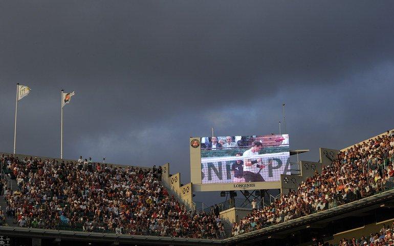 Lluvia Roland Garros - @rolandgarros