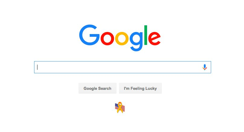 In case you were wondering how Google is honoring the fallen today. https://t.co/8IlASO8oyQ