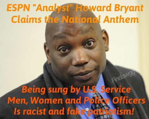 Howard Bryant of ESPN bashes cops for singing National Anthem