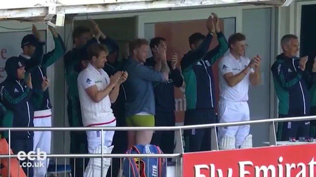 Ben Stokes celebrating Alastair Cook's 10k in his undies the highlight https://t.co/KzdxofHRFd