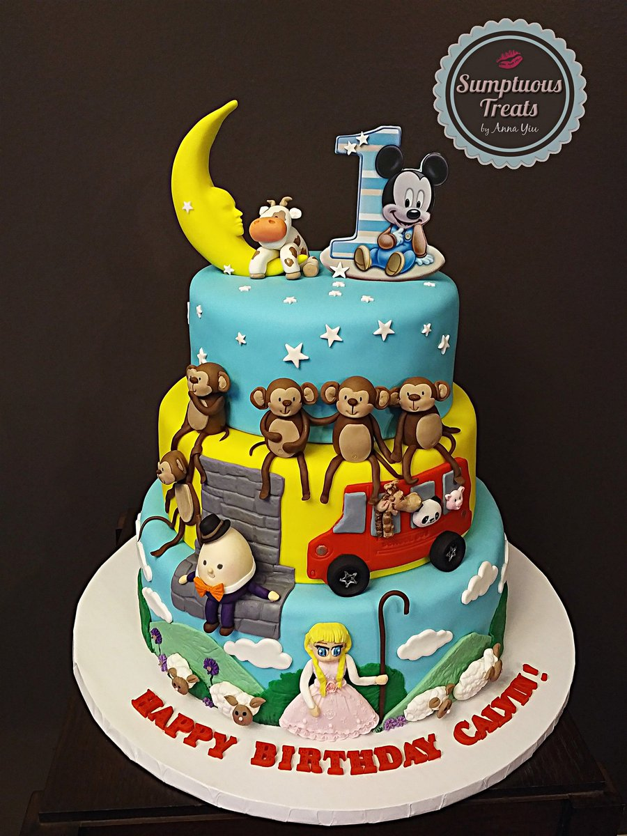 Nursery Rhymes Theme Cake Custom
