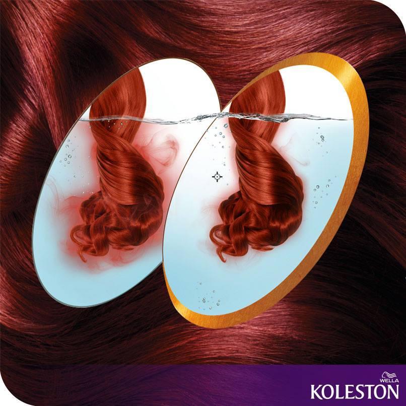 Koleston mantém sua cor intensa por mais tempo, deixando o cabelo muito mais hidratado: ! <3