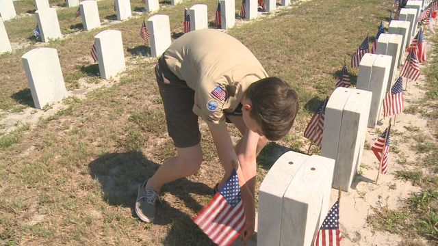 Bay Area Scouts place flags on gravesites, recall true meaning of Memorial Day