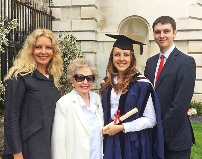 My family... Mum, Cameron and I all equally proud at Katie's graduation.Cambridge Masters Physics and Chemistry x https://t.co/0KLCMIPSZY