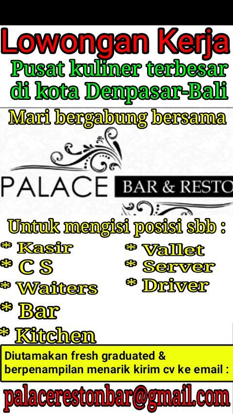 Kedai Rafie On Twitter Lokerbdg Lowkermalang Lowongankerja Denpasar Bdg Jabar Cianjur Bursakerja Bali Restoran Hotel