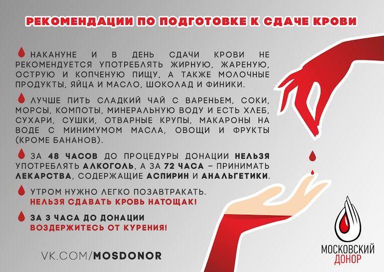 Можно ли выпивать перед сдачей крови
