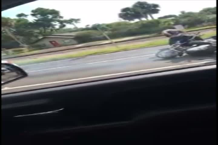 WATCH: Driver appears to run over motorcycle in Hillsborough County