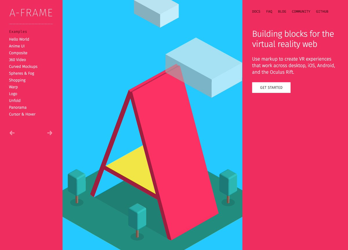 Building blocks for the virtual reality web