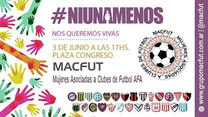 Macfut adhiere a #Niunamenos