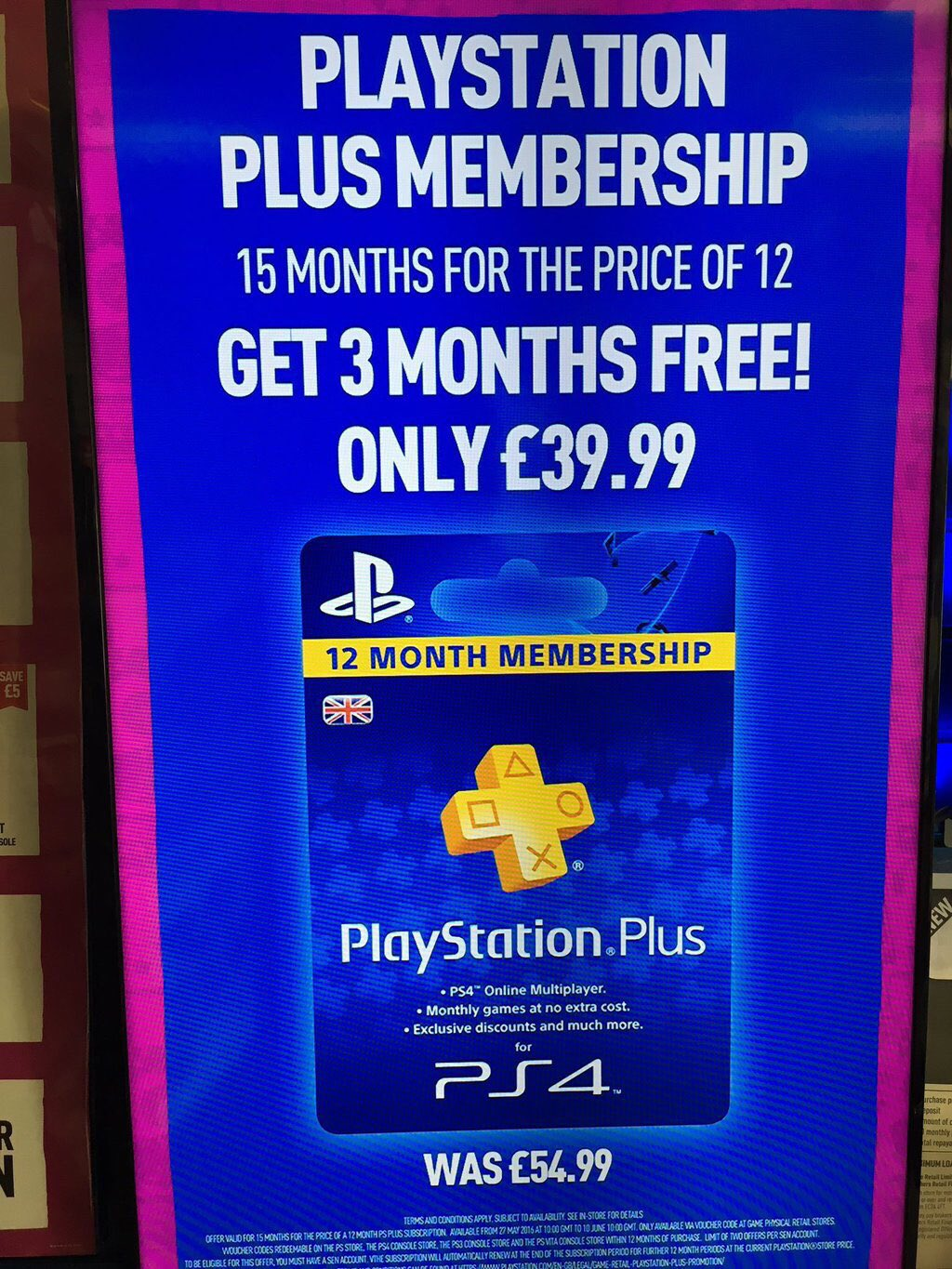 PlayStation Plus 15 months for the price of 12 months (£39 ...
