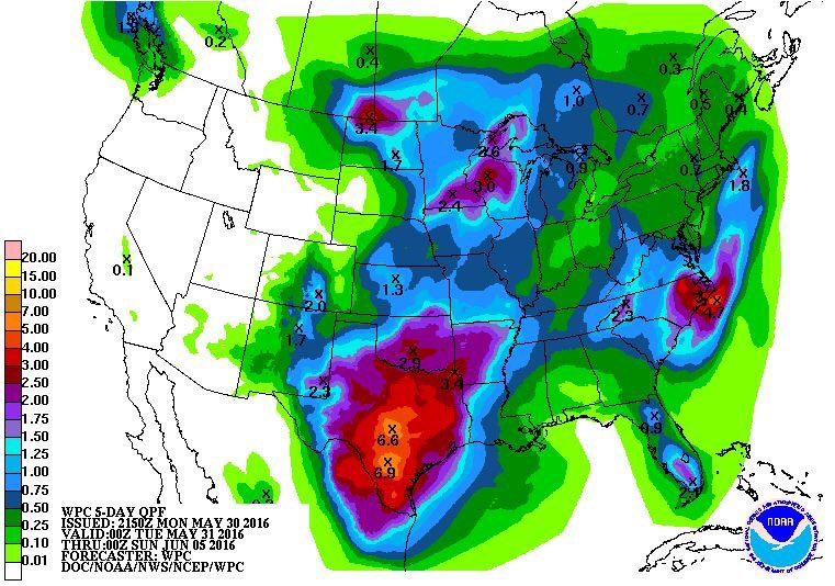 Forecast models putting down some big rain. This will bring flooding issues. @KABBFOX29 @elisaamigo