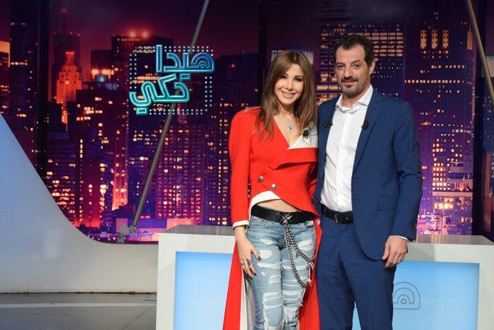 صورة نانسي عجرم مع عادل كرم