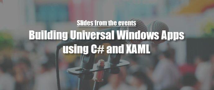 My slides on building #UWP apps using C# and XAML https://t.co/gsfu6j4Jsy  #csharp #xaml @CsharpCorner @niteshluhar… https://t.co/rAjK6Mhi1A