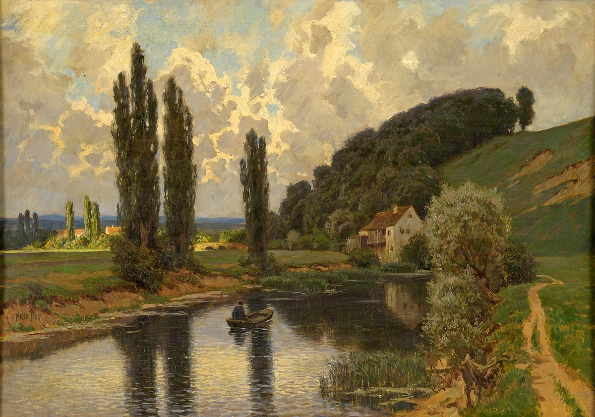 The river is everywhere. - Hermann Hesse #quote #painting Paul Hey River Landscape
