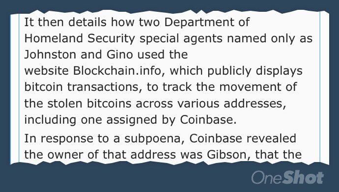 Bitcoin is not anonymous. Bitcoin is not anonymous. Bitcoin is not ... Coinbase is *definitely* not anonymous https://t.co/CDHdw0YaPr