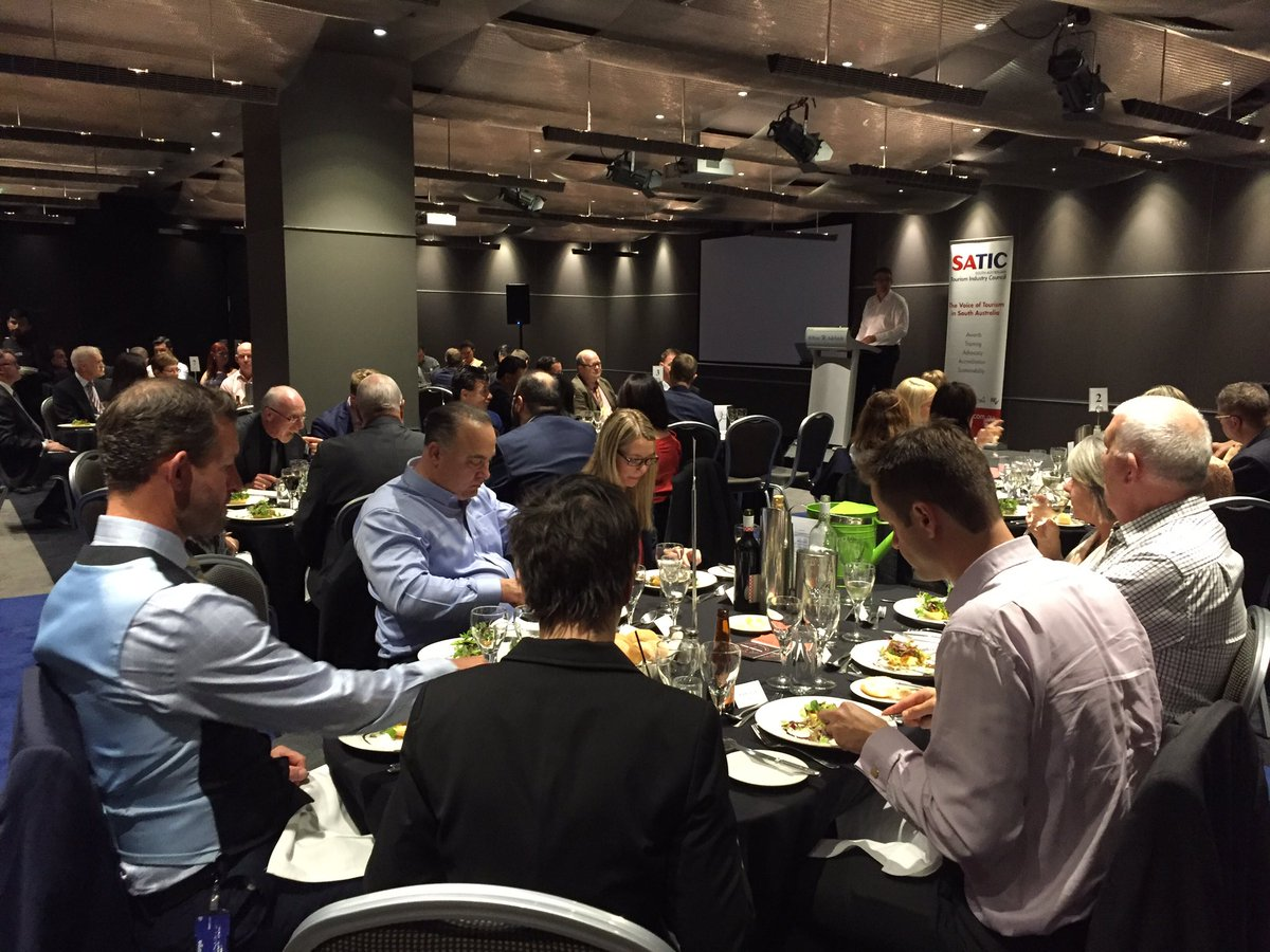 #2016SATIC Tourism Conference kicks off with our Leadership Dinner @HiltonAdelaide https://t.co/mFTqq0EYAT