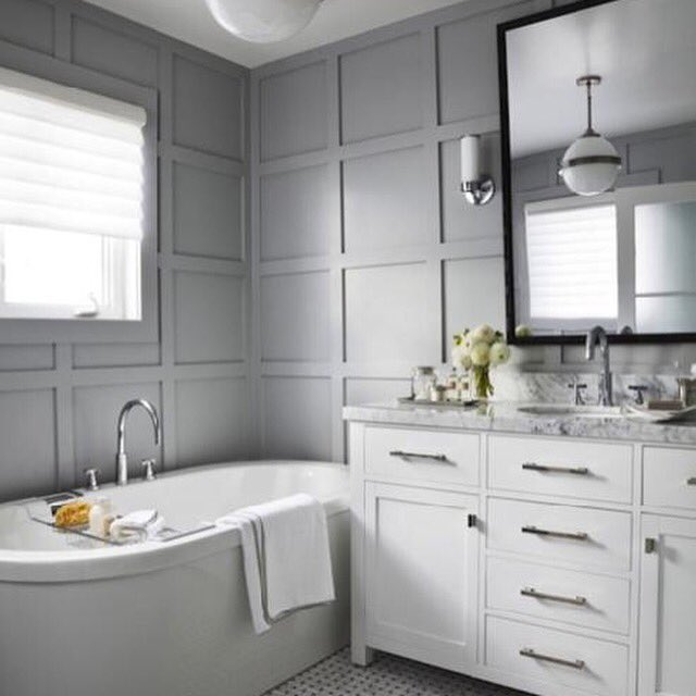 gray bathroom walls - 736×1104
