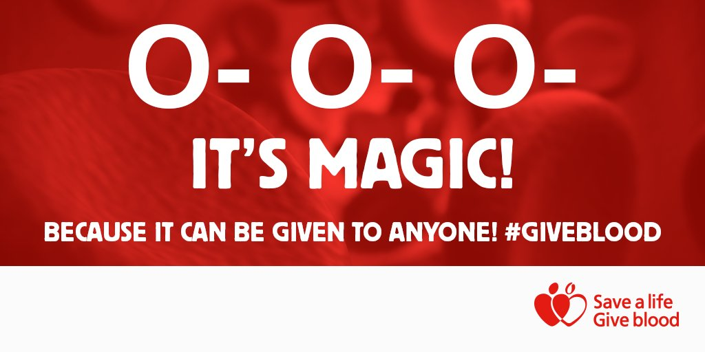 Did you know: Donations from O- blood group are vital as they can be safely used in emergency situations #GiveBlood https://t.co/dtjORid6VL