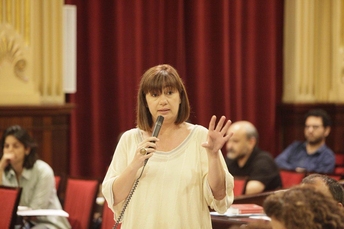 Armengol: 'Estoy convencida de que si Pedro Sánchez es el nuevo presidente, aquí habrá un nuevo REB'
