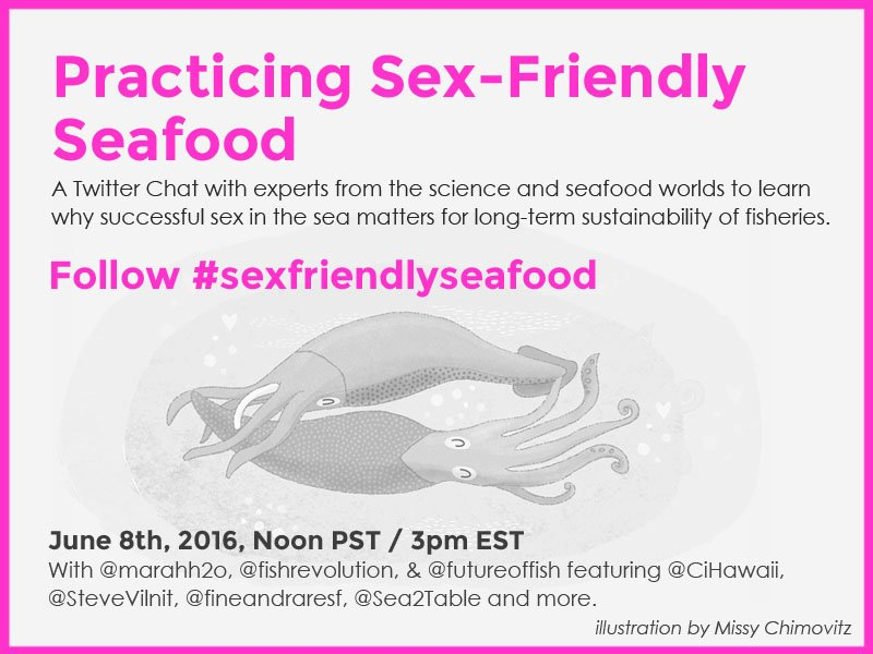 Do you practice #sexfriendlyseafood ? Join our #WorldOceansDay twitter chat with @Marahh2o and friends on June 8. https://t.co/c2uvox5HFk