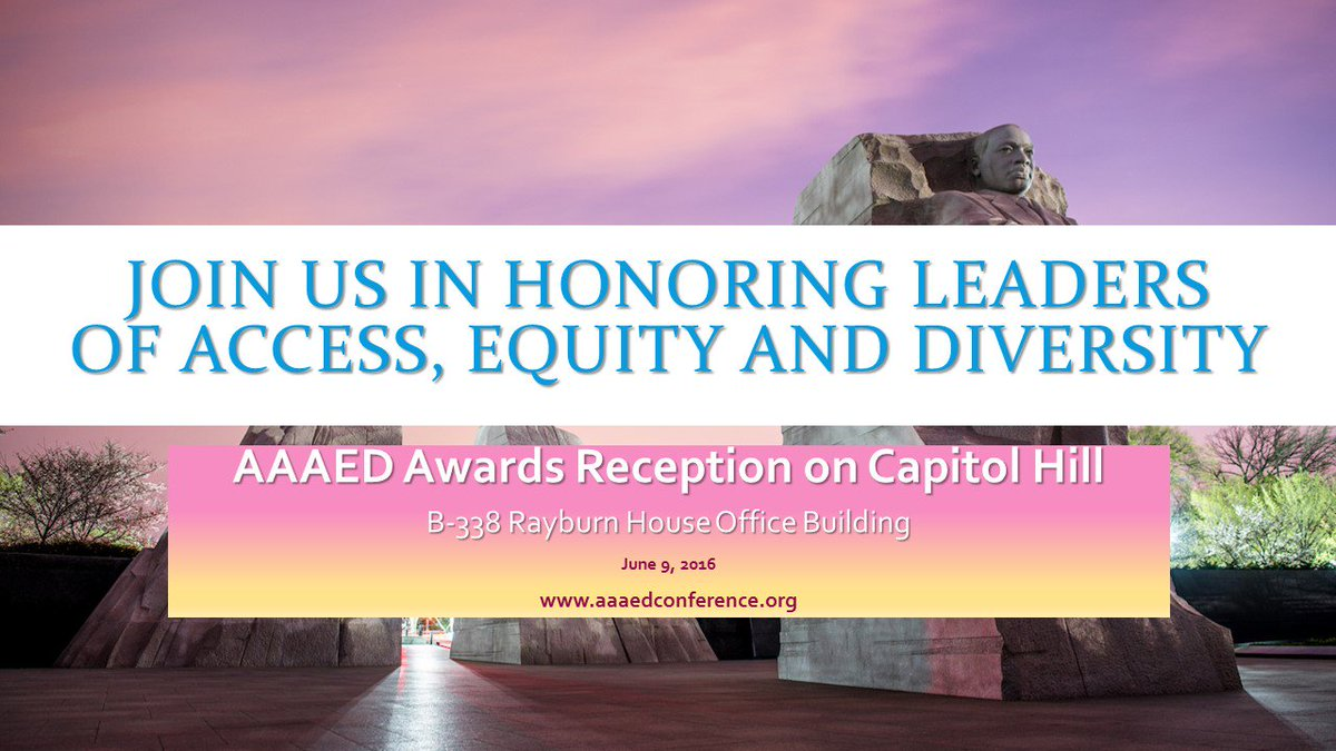 Honor three Congressional icons for civil rights on June 9th.  AAAED Awards Reception.  https://t.co/Ll63RABGui https://t.co/yX00cvclgc