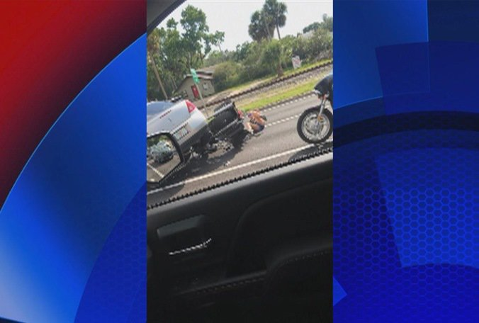 Video shows man ran over motorcycle in road rage incident, police say