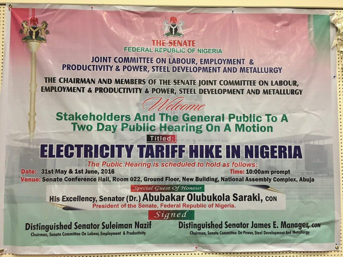 Senate revisits electricity tariff