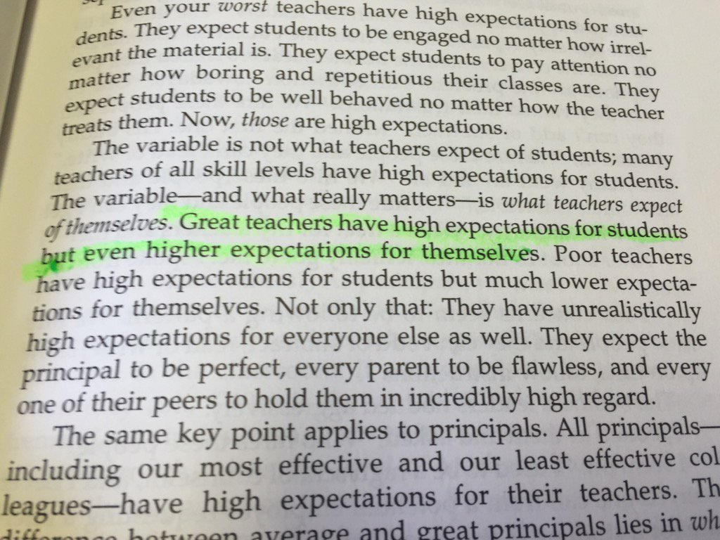 Great teachers have high expectations for students but even higher expectations for themselves. #EduReads https://t.co/AzR3TxZp5V