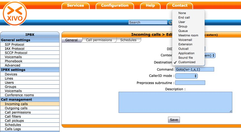 XiVO Call Routing Tutorial: Setting Up Incoming Call Routes
