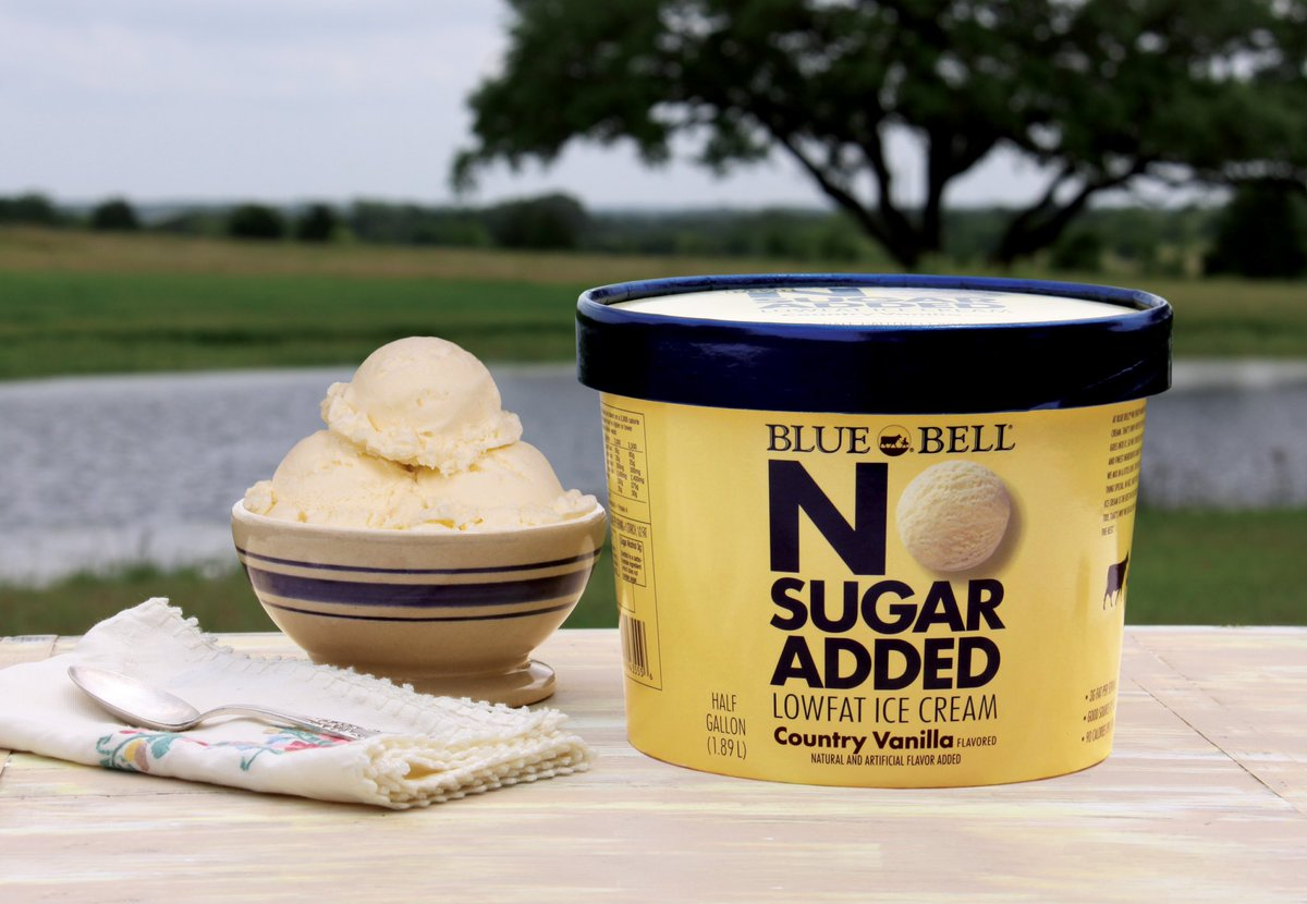 No to sugar. Yes to taste. Blue Bell No Sugar Added Country Vanilla returns to stores this week!