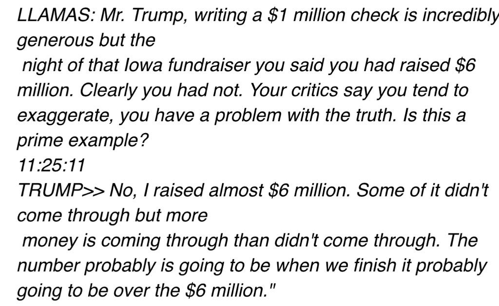 "The exchange that led Trump to call me a ""sleaze."""