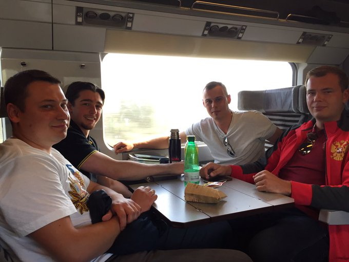 2 Russians + 2 English football fans heading to #Lille #EURO2016: 'It's just few bad apples ruining it for us all'