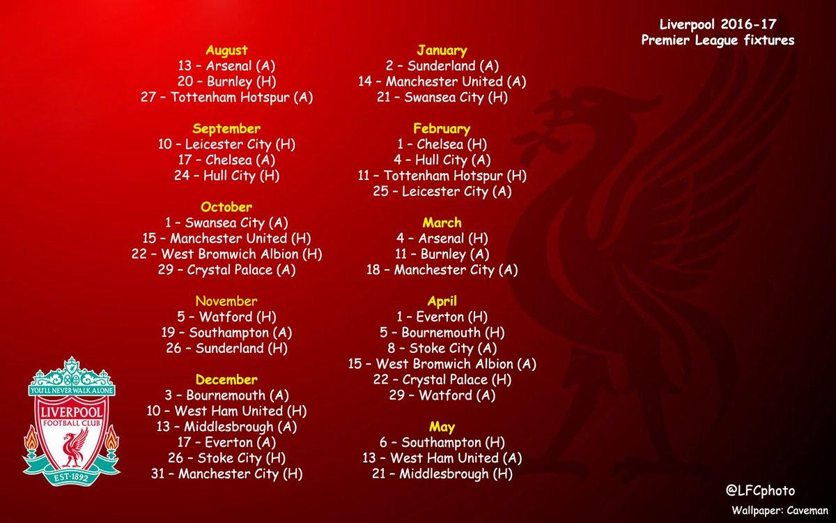Lfc epl remaining fixtures a premier league fixtures