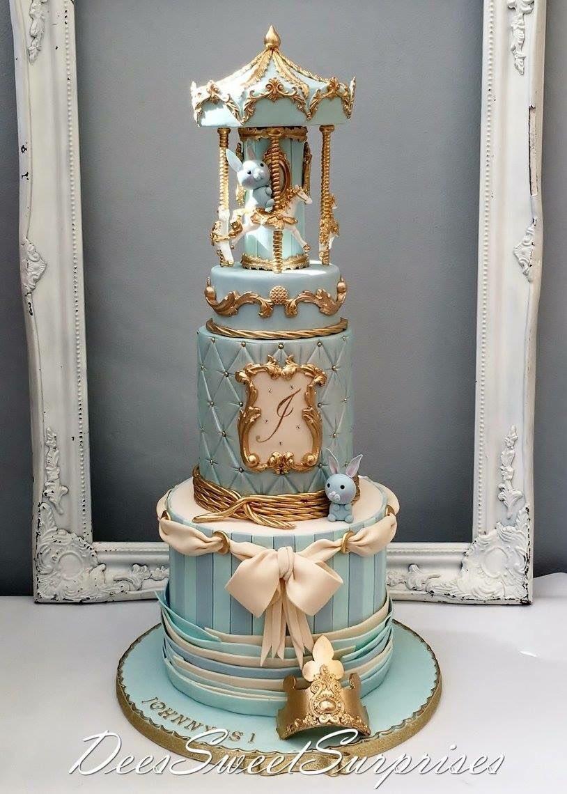 Fine Deessweetsurprises On Twitter Boys 1St Carousel Birthday Cake Personalised Birthday Cards Akebfashionlily Jamesorg