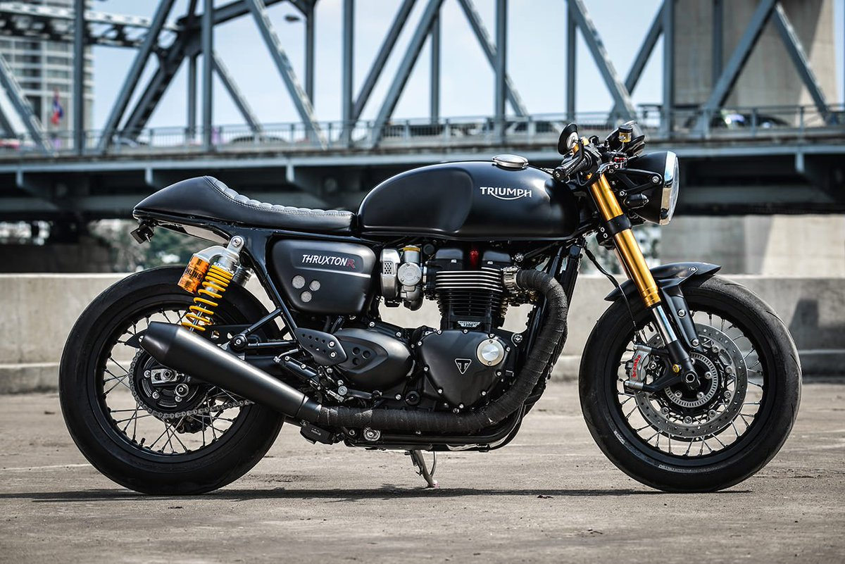 """Maxabout.com on Twitter: """"Triumph Thruxton R by K-Speed Customs #Triumph  #ThruxtonR #KSpeed #Custom #Motorcycle… """""""