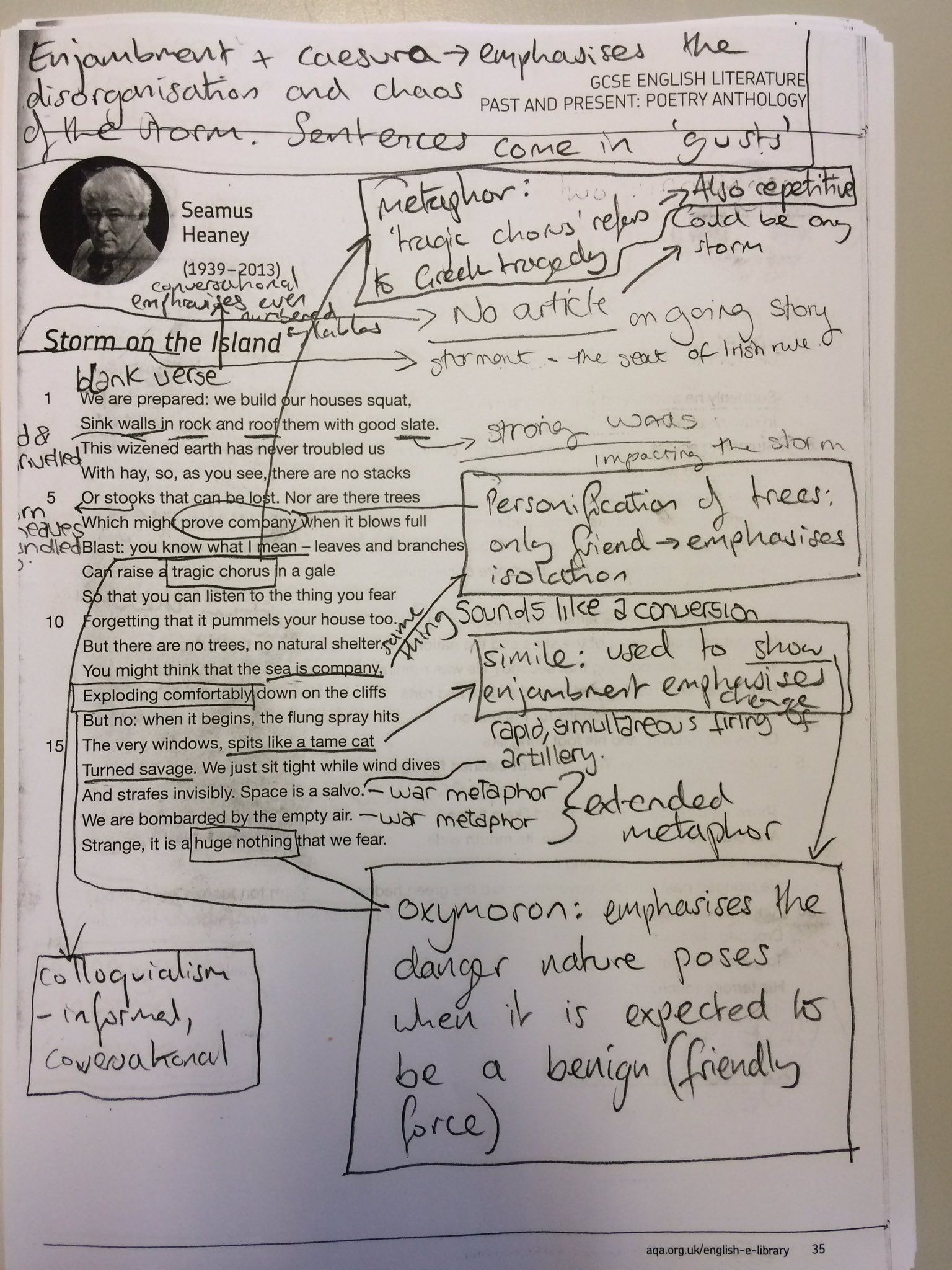 a literary analysis of poem and about his person by simon armitage Analysis simon armitage gooseberry season ocr english literature gcse exam  basic analysis this is a poem about murder  third person (6) to his.