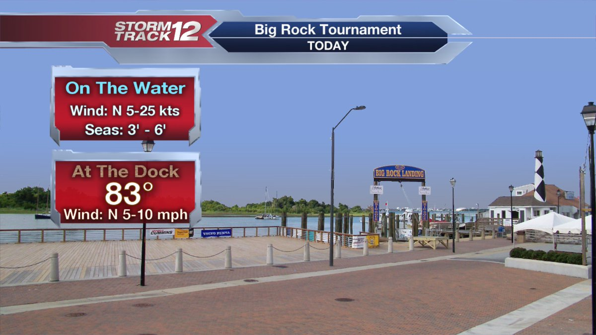Day #1 of @bigrockfishing. Winds will be gusty on the water this morning. Great weather at the dock for weigh in. https://t.co/QZg9c792Ga