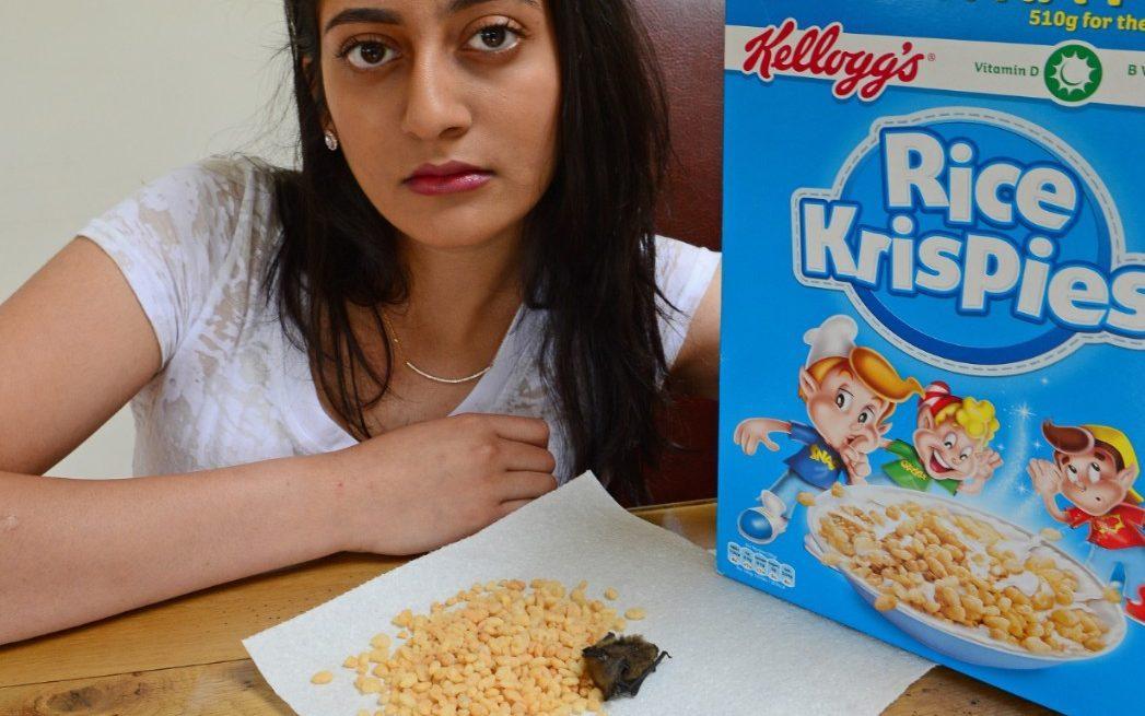 Trova un Pipistrello Morto nei Cereali Rice Krispies di Kellog's