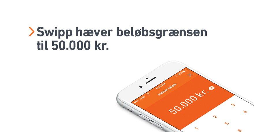 Nu kan du Swippe op til 50.000 kr. om dagen. Læs mere om Swipp her: https://t.co/DQPkBIRcBa https://t.co/7w89f1m7zJ