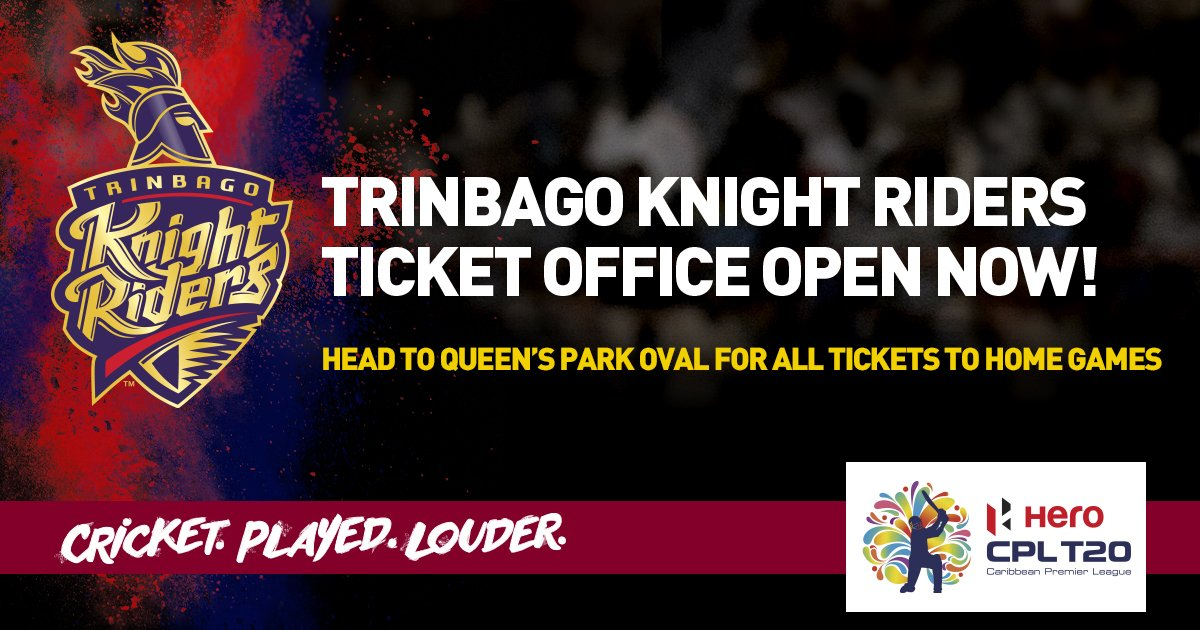CPL T20 On Twitter The Ticket Office At Queens Park Oval Is NOW