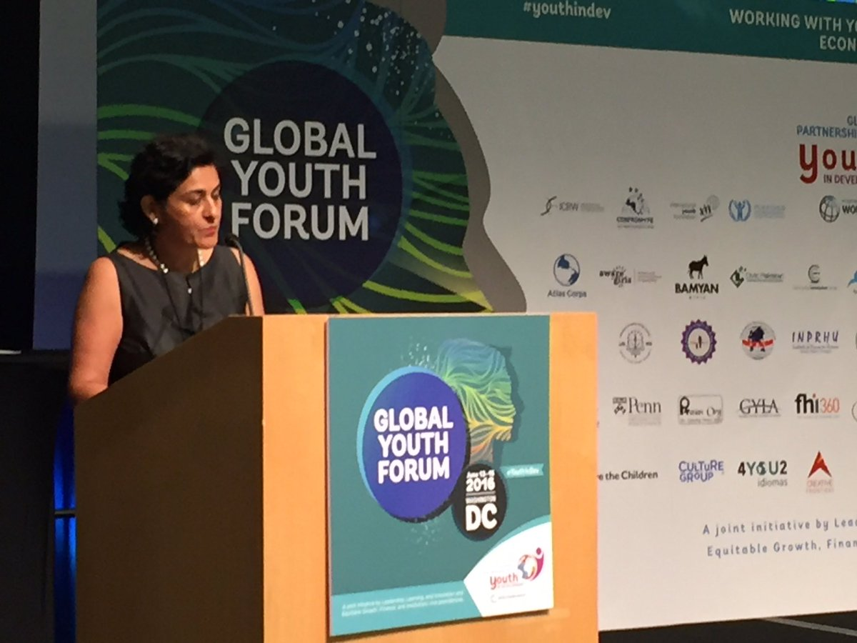 Great opening Global Youth Forum with Abha Joshi-Ghani: Youth at Center of Development #youthindev https://t.co/nsL49OJJoy