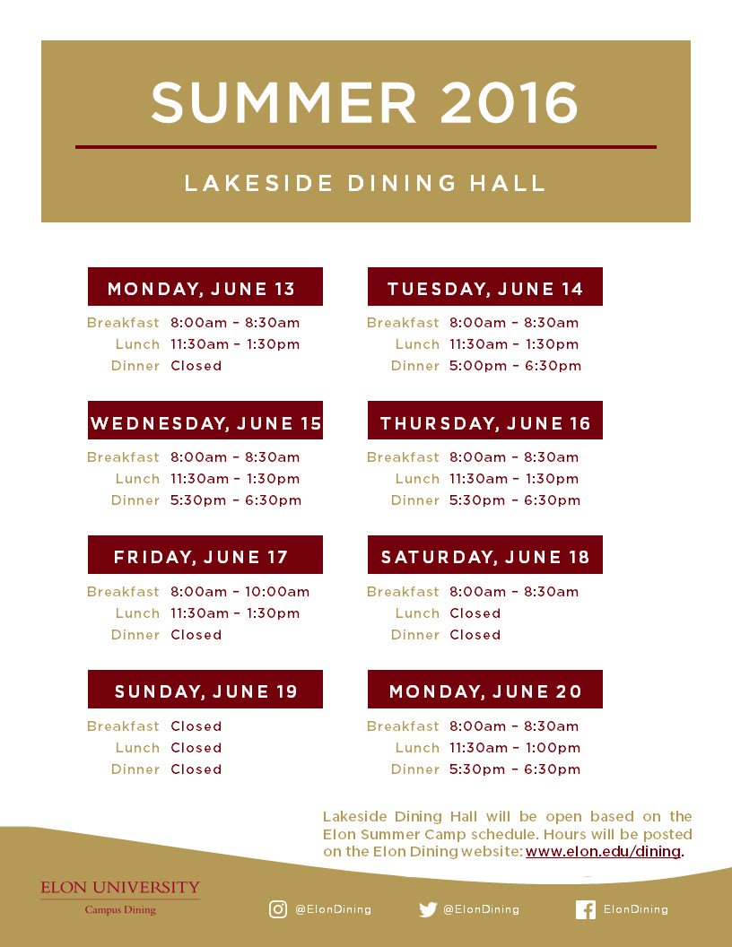 elon dining services on twitter