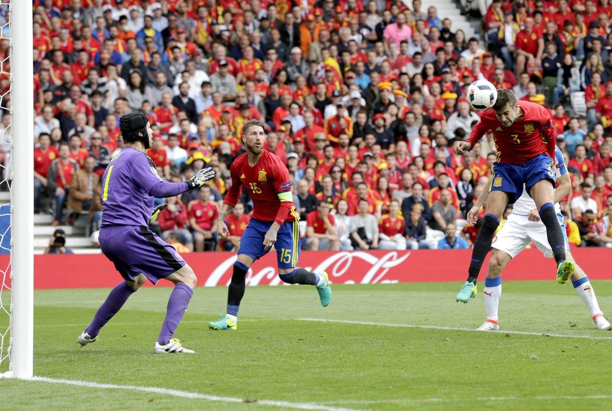 Euro 2016: SPAGNA REPUBBLICA CECA, risultato deciso nei minuti finali della partita da Piqué (Video Gol)