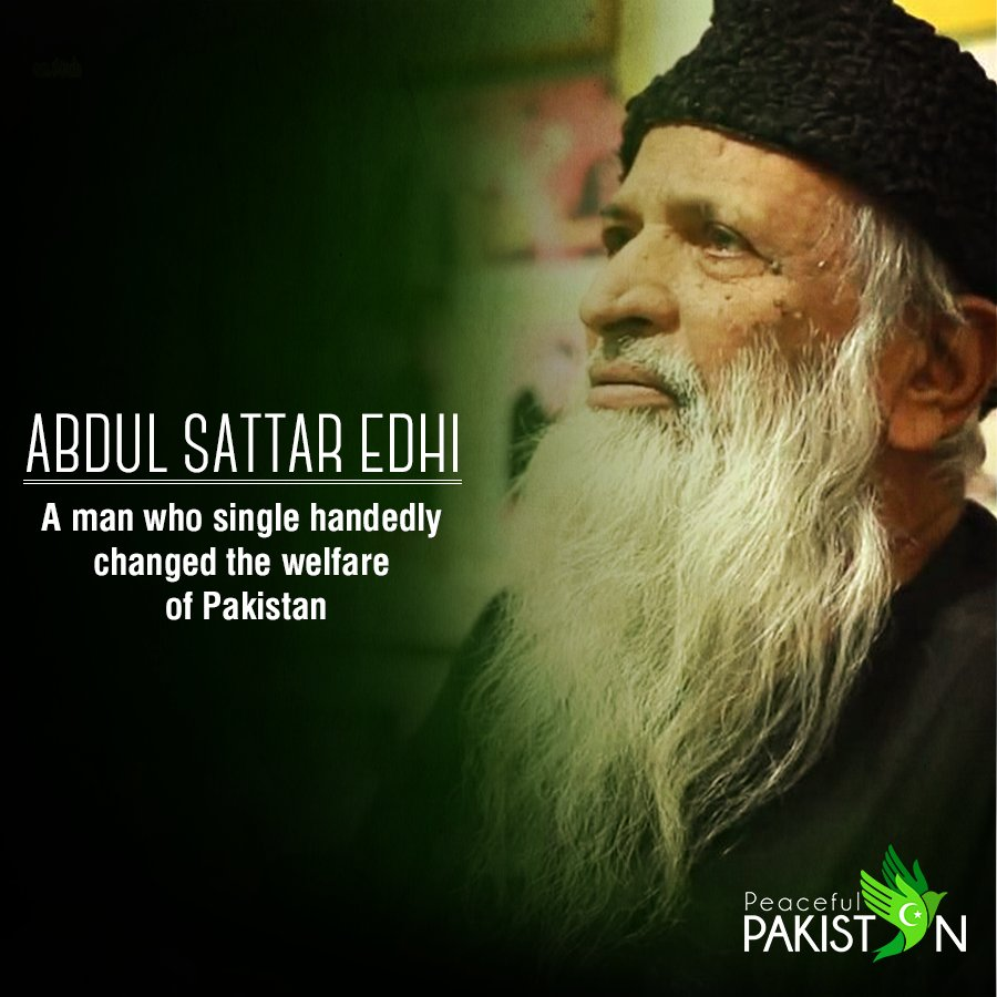 abdul sattar edhi report Karachi: in order to provide better health care facilities to karachiites, the edhi foundation in an agreement got connected with a ride-hailing services app careem for swift access to the patients on friday faisal edhi, son of abdul sattar edhi and head of edhi foundation said, we are working on.